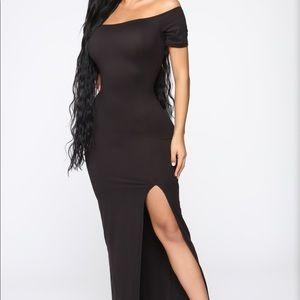 Fashion Nova Black Maxi Dress